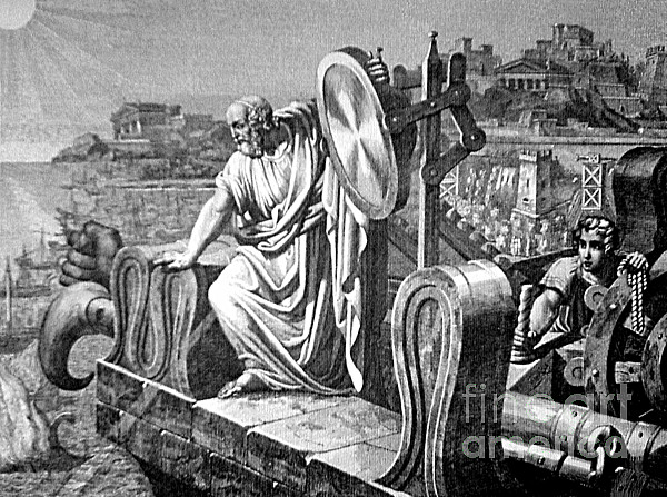Archimedes Heat Ray, Siege Of Syracuse Print by Science Source