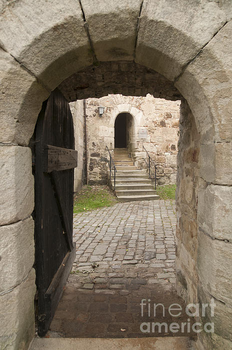 Archway - Entrance To Historic Town Print by Matthias Hauser