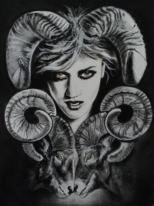 Aries The Ram Print by Carla Carson