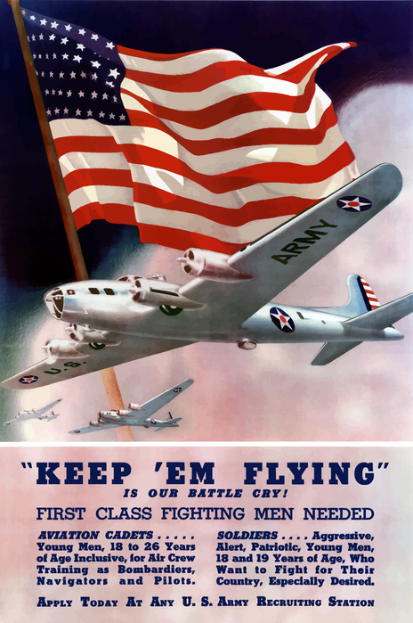 Army Air Corps Recruiting Poster Print by War Is Hell Store