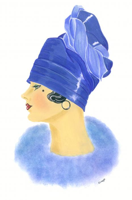 Art Deco Lady - Clarissa Painting  - Art Deco Lady - Clarissa Fine Art Print