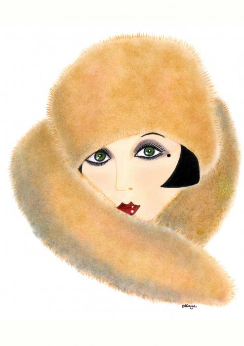 art deco lady   vivian