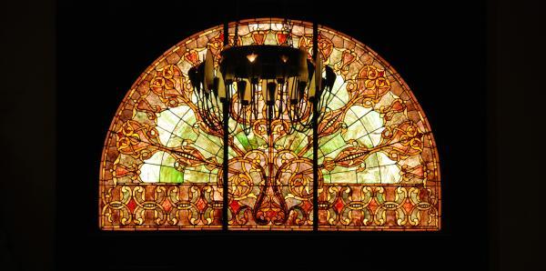 Artful Stained Glass Window Union Station Hotel Nashville Print by Susanne Van Hulst