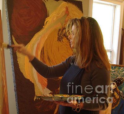 Lisa Kramer - Artist in Studio at Work