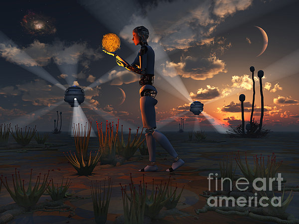 Artists Concept Of A Quest To Find New Print by Mark Stevenson