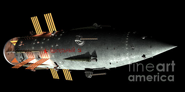 Artists Concept Of An Orion-drive Print by Rhys Taylor