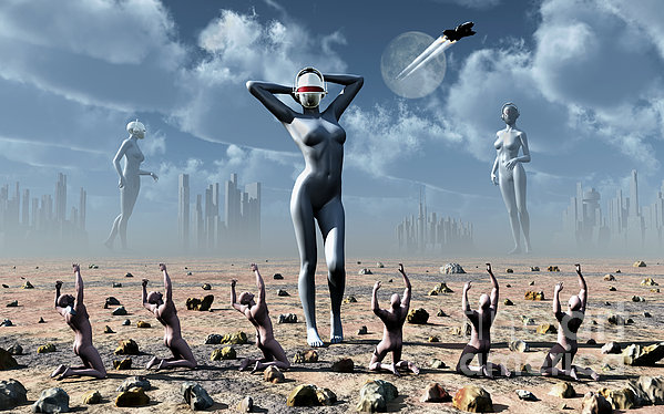 Artists Concept Of Mankinds Reliance Print by Mark Stevenson