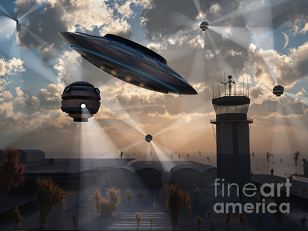 Artists Concept Of Stealth Technology Print by Mark Stevenson