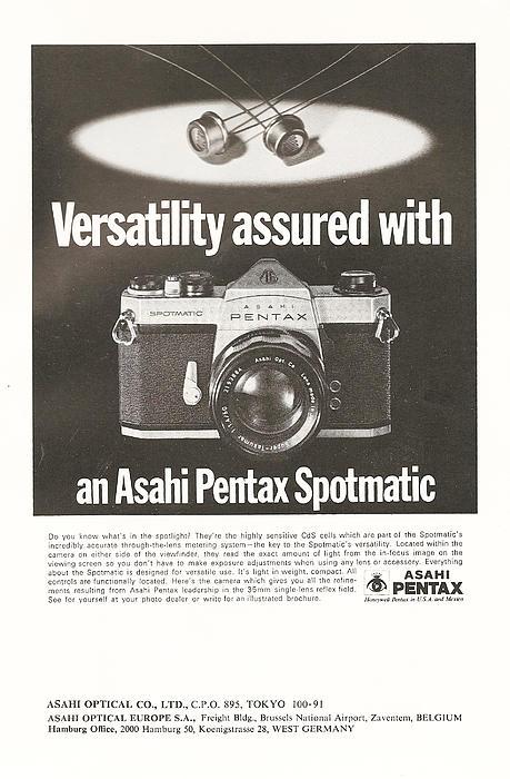 Asahi Pentax Spotmatic Print by Nomad Art And  Design