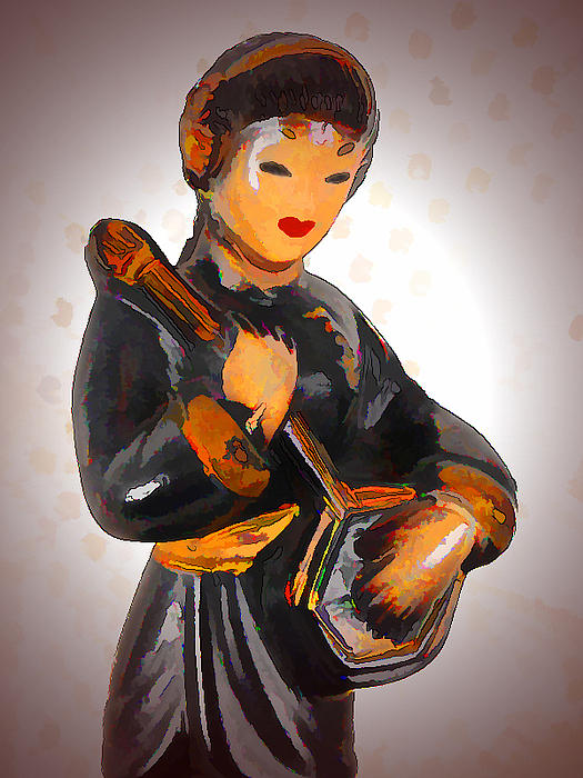 Asian Beauty Minstrel Print by Kathy Clark