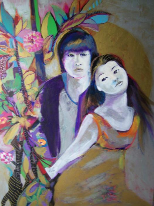 asian love painting by michael clifford shpack asian love fine asian love 525x700