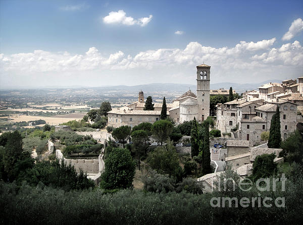 Assisi Italy - Bella Vista - 01 Print by Gregory Dyer