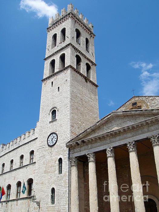 Assisi Italy - Santa Maria Sopra Minerva Print by Gregory Dyer