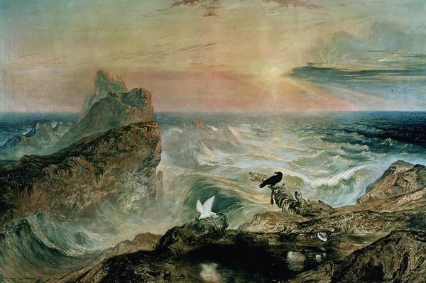 Assuaging Of The Waters Print by John Martin