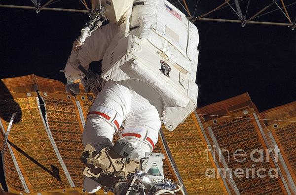 Astronaut Installs Stabilizers Print by Stocktrek Images