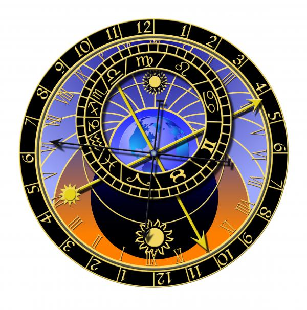 Astronomical Clock Print by Michal Boubin