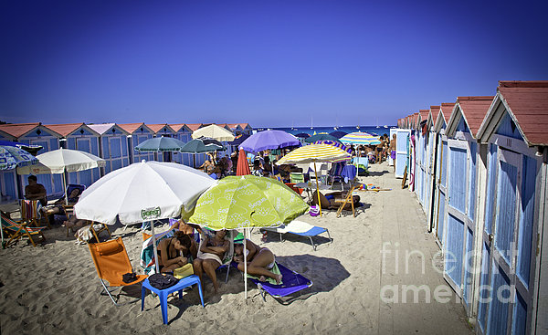At Mondello Beach - Sicily Print by Madeline Ellis