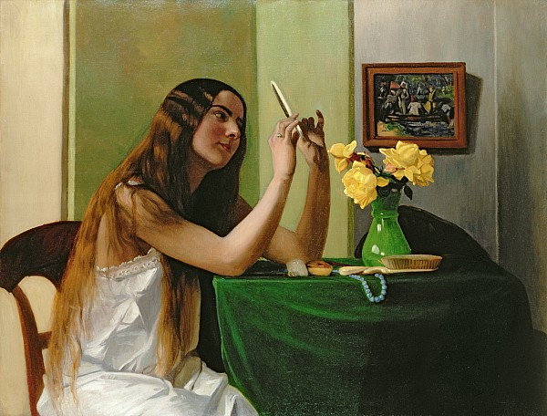 At The Dressing Table Print by Felix Edouard Vallotton