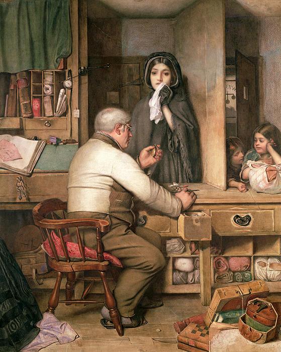 At The Pawnbroker Print by Thomas Reynolds Lamont