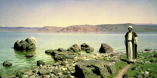 At The Sea Of Galilee Print by Vasilij Dmitrievich Polenov