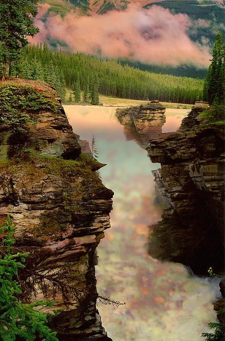Shirley Sirois - Athabasca Falls Evening