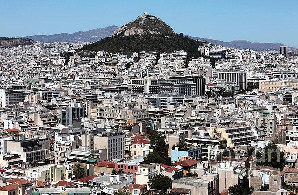 Athens City View Print by John Rizzuto