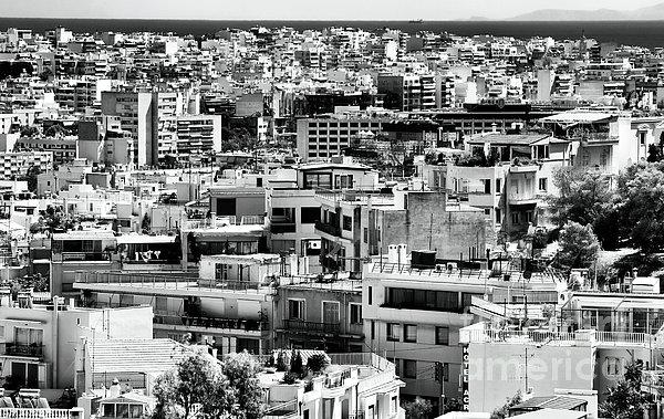 Athens Cityscape I Print by John Rizzuto