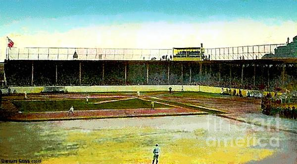 Athletics' Columbia Park In Philadelphia Pa 1910 Print by Dwight Goss
