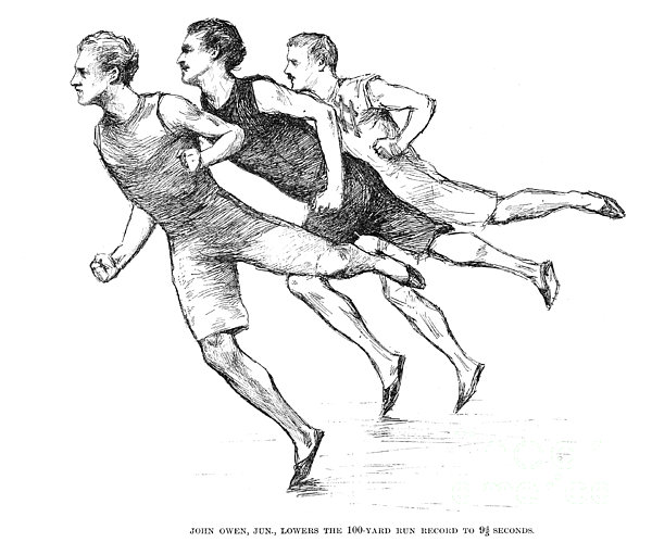 Athletics: Track, 1890 Print by Granger
