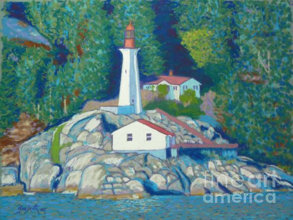 Atkinson Point Lighthouse Pastel  - Atkinson Point Lighthouse Fine Art Print