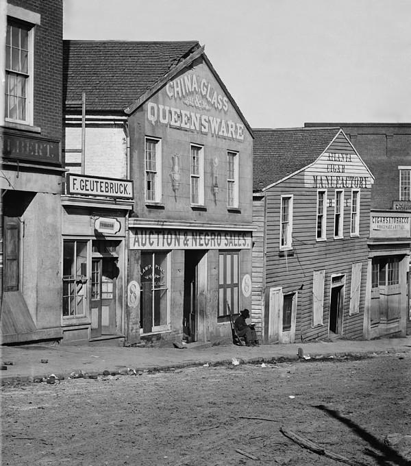 Atlanta, Georgia, Slave Auction House Print by Everett