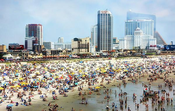 Atlantic City Beach Print by John Loreaux
