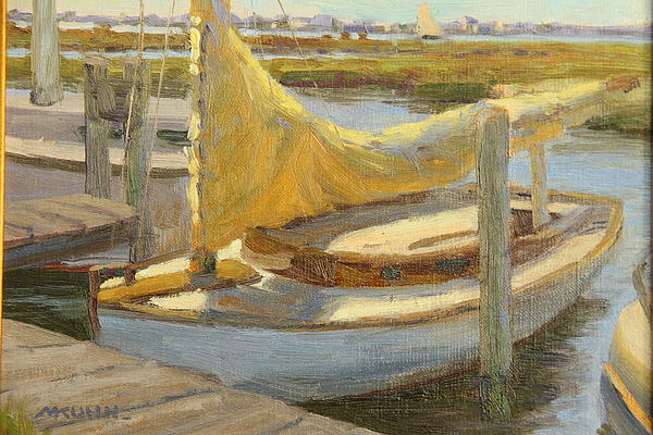 Atlantic City Cat Boat Print by Marianne  Kuhn