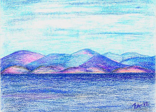 Atlantic Mountains 2 Print by Taruna Rettinger