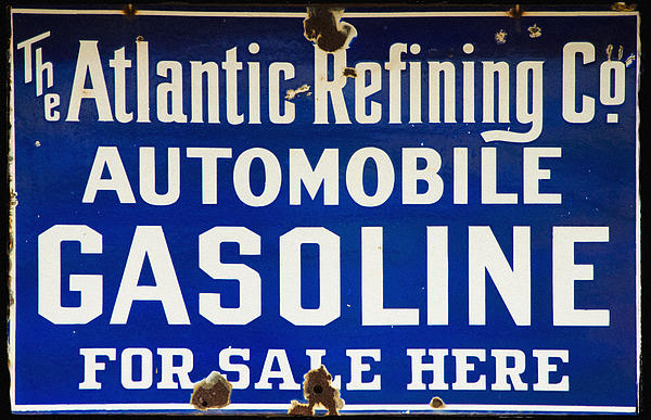 Atlantic Refining Co Sign Print by Bill Cannon