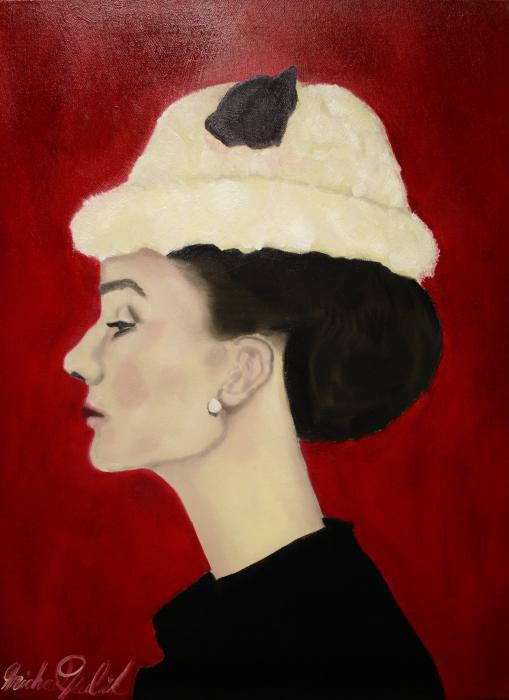 Audrey Hepburn Print by Michael Kulick