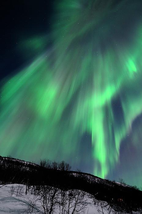 Aurora Borealis Corona Print by John Hemmingsen