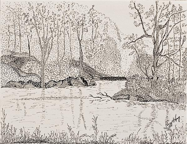 Peggy King - Ausable River at Rock Glen