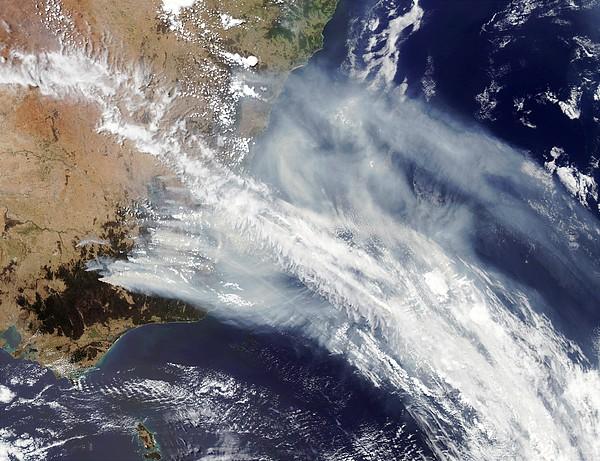 Australian Bush Fire Smoke Print by Nasa