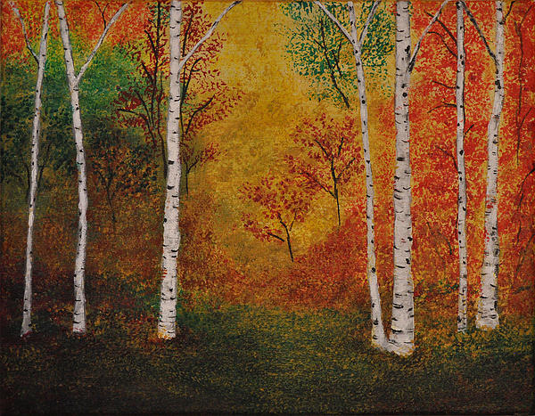 Crystal Johnson - Autumn Aspen Trees- Sunny Day