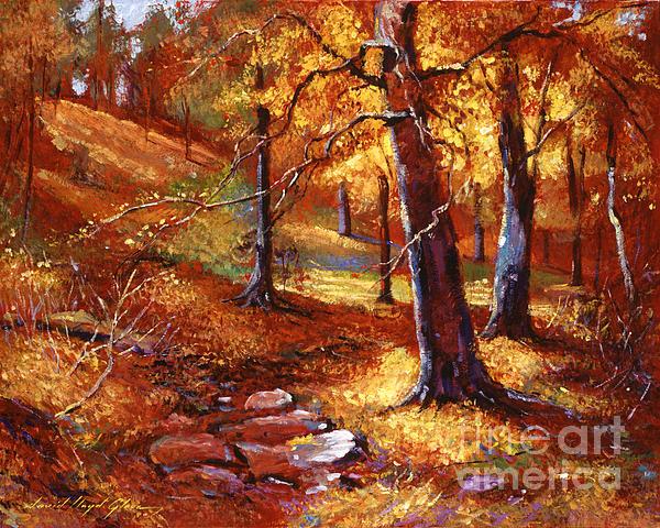 Autumn Color Palette Print by David Lloyd Glover