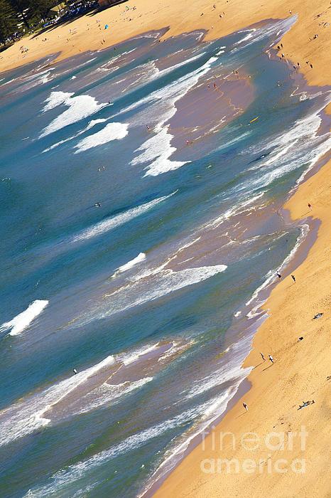 Autumn Day At Palm Beach Sydney Print by Sheila Smart
