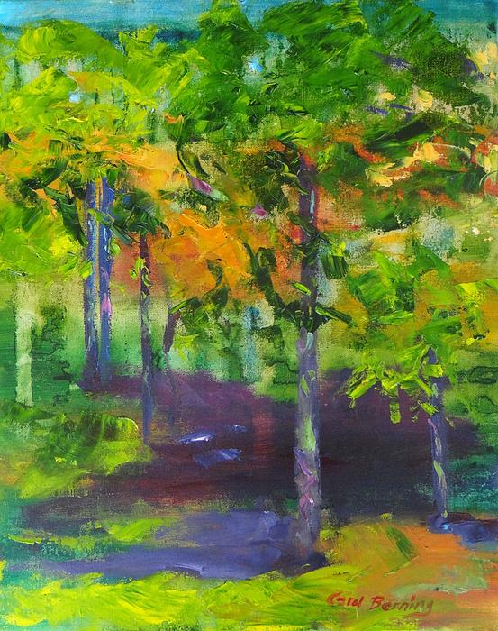 Autumn Landscape Print by Carol Berning