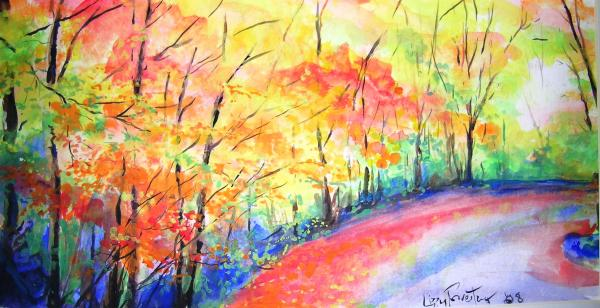 Autumn Lane Iv Print by Lizzy Forrester