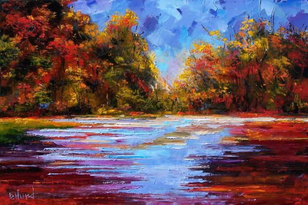 Autumn Morning Painting  - Autumn Morning Fine Art Print