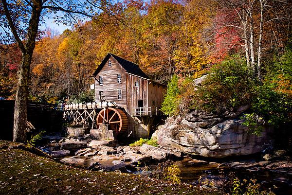 Autumn Morning In West Virginia Print by Jeanne Sheridan