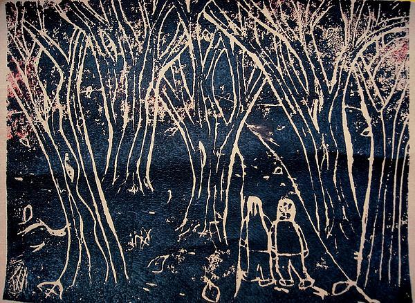 Autumn Night Hike Print by Ward Smith