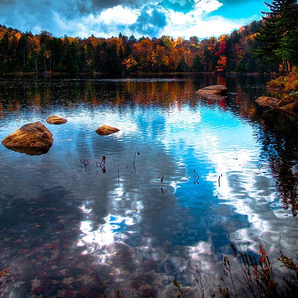 Autumn On Cary Lake Print by David Patterson