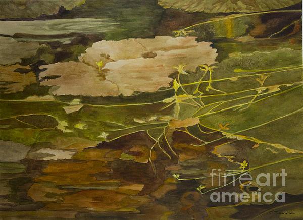 Autumn Pond Print by Olga Zamora