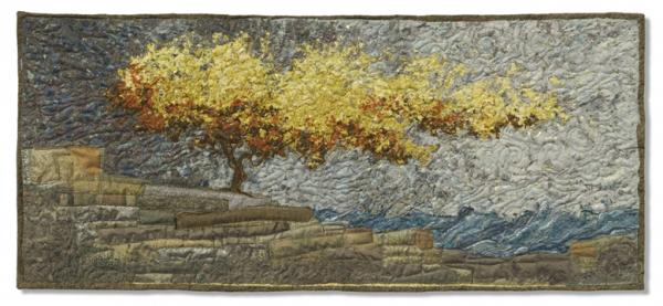 Autumn Shoreline Tapestry - Textile